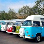 Row Of Volkswagon Vans